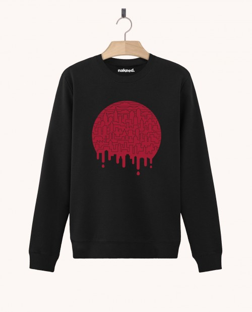 Sweatshirt Painted Red
