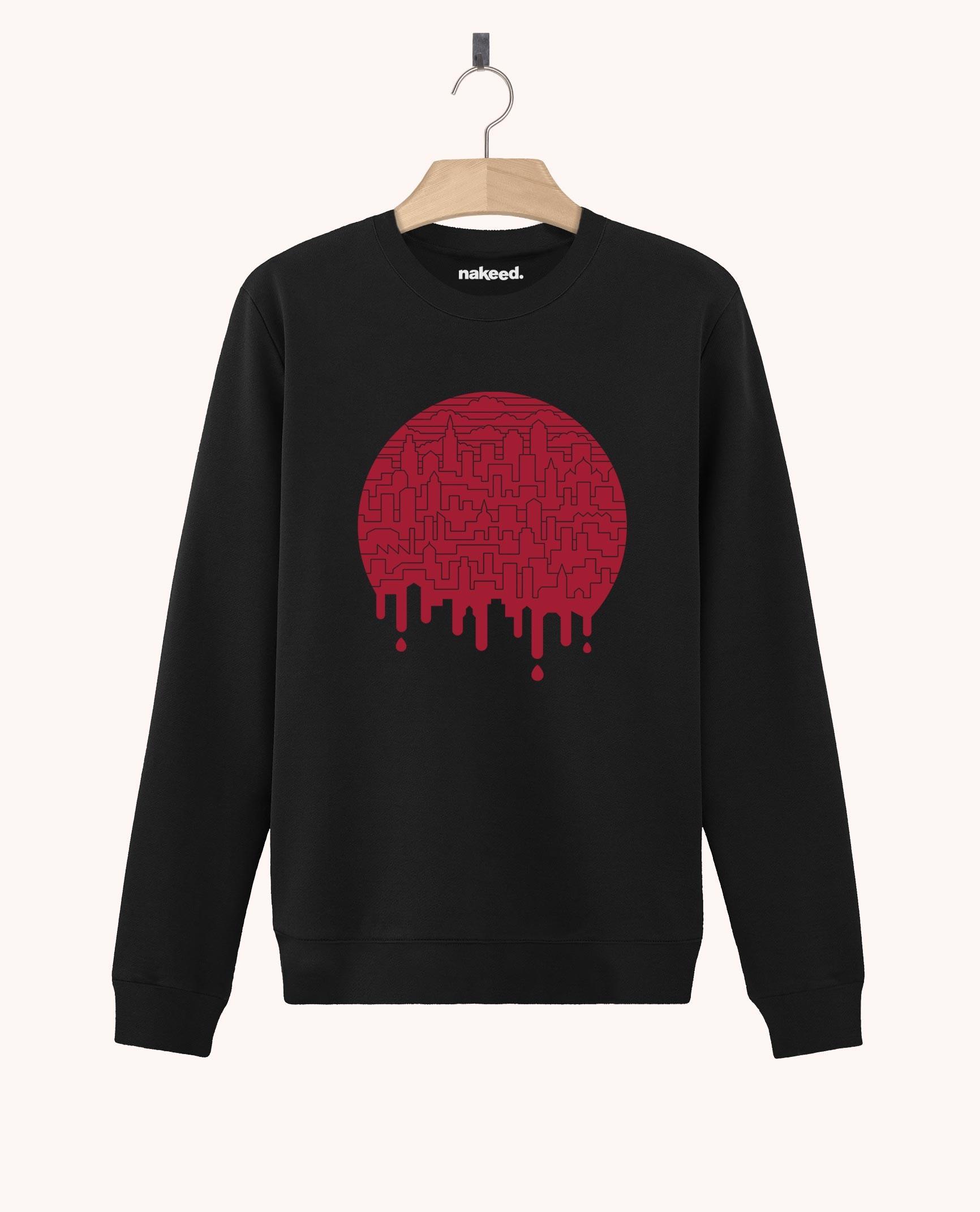 Sweatshirt Painted Red
