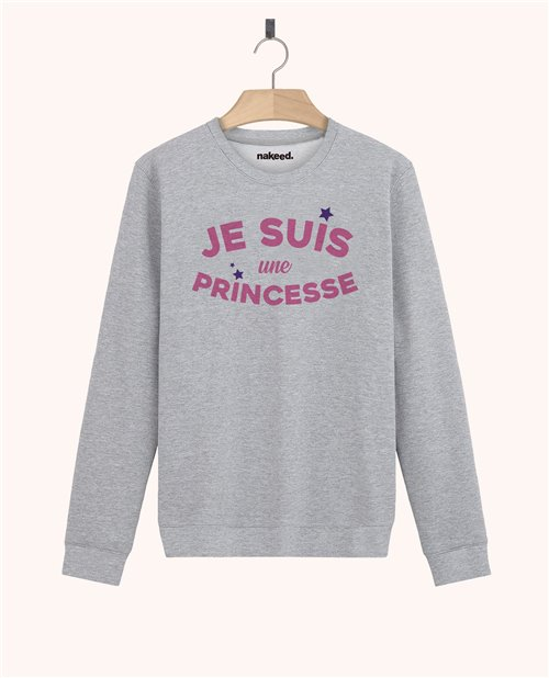 Sweatshirt Je suis une princesse