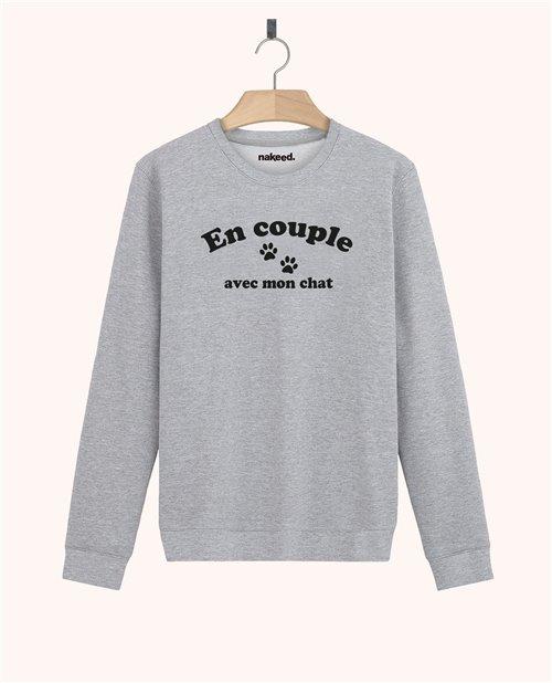 Sweatshirt En couple avec mon chat