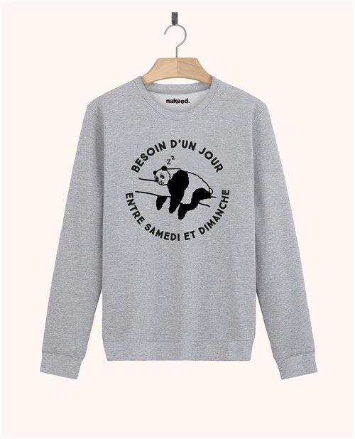 Sweatshirt Besoin d'un jour entre samedi et dimanche