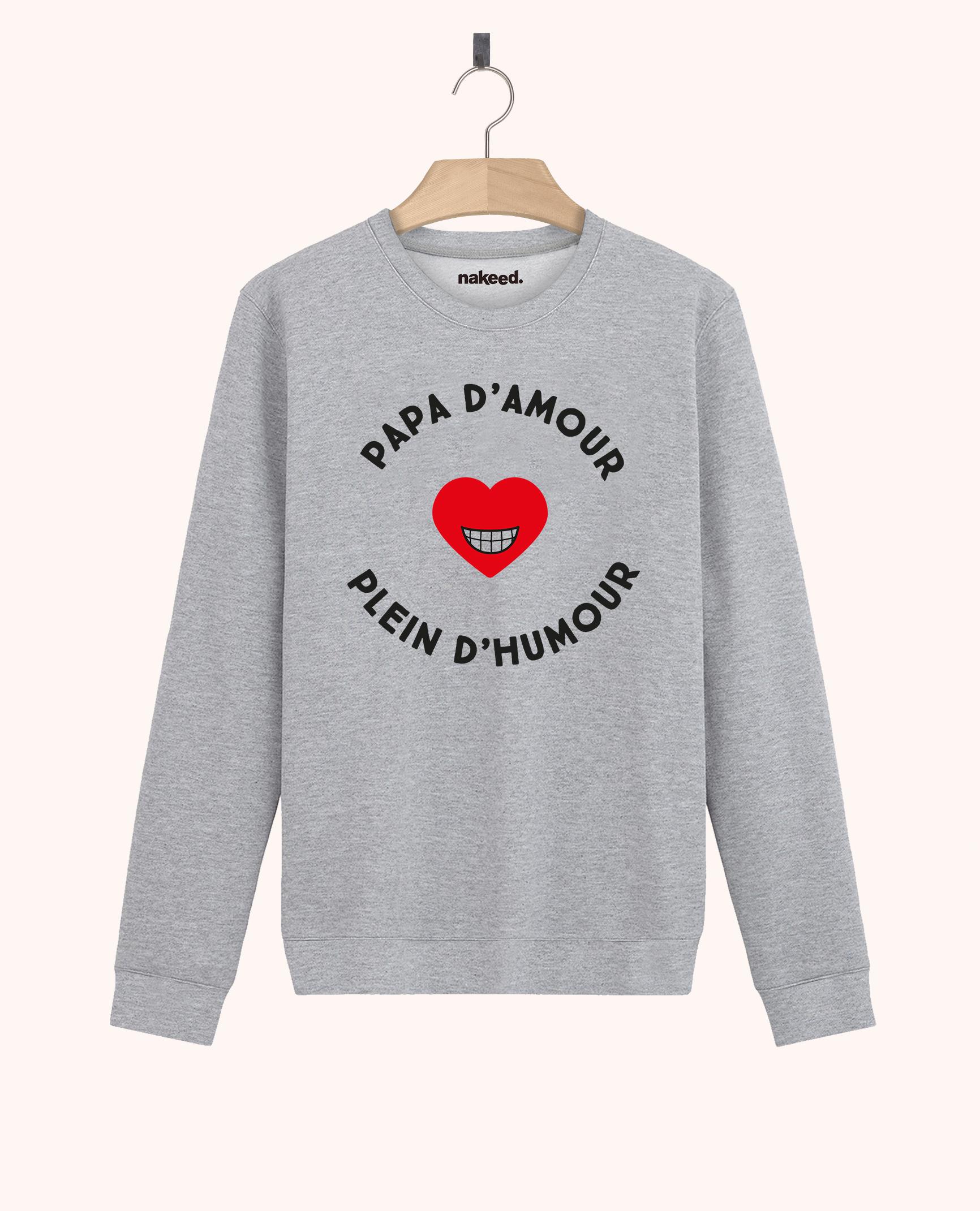 Sweatshirt Papa d'amour plein d'humour