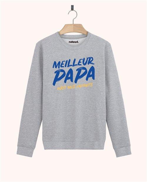Sweatshirt Meilleur papa dixit mes enfants