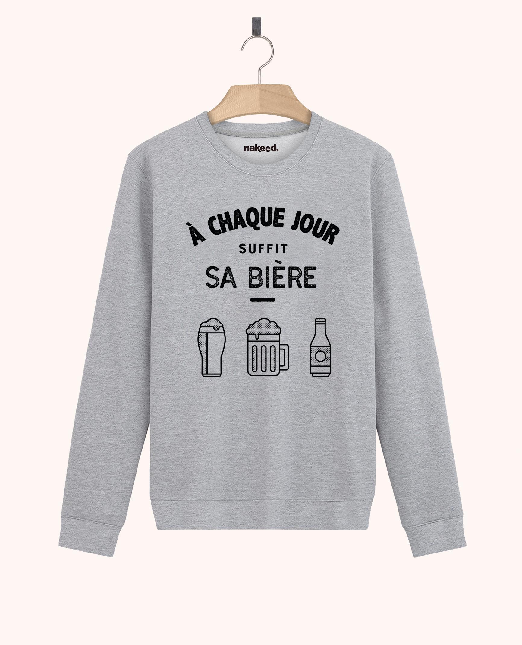 Sweatshirt A chaque jour suffit sa bière