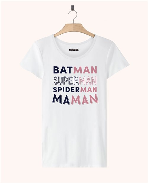 Teeshirt Batman Superman Spiderman Maman