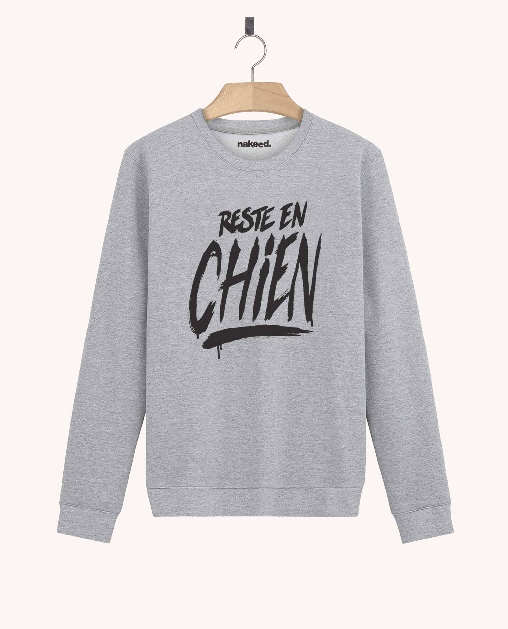 Sweatshirt Reste en Chien