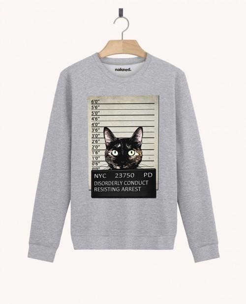 Sweatshirt Kitty Mugshot