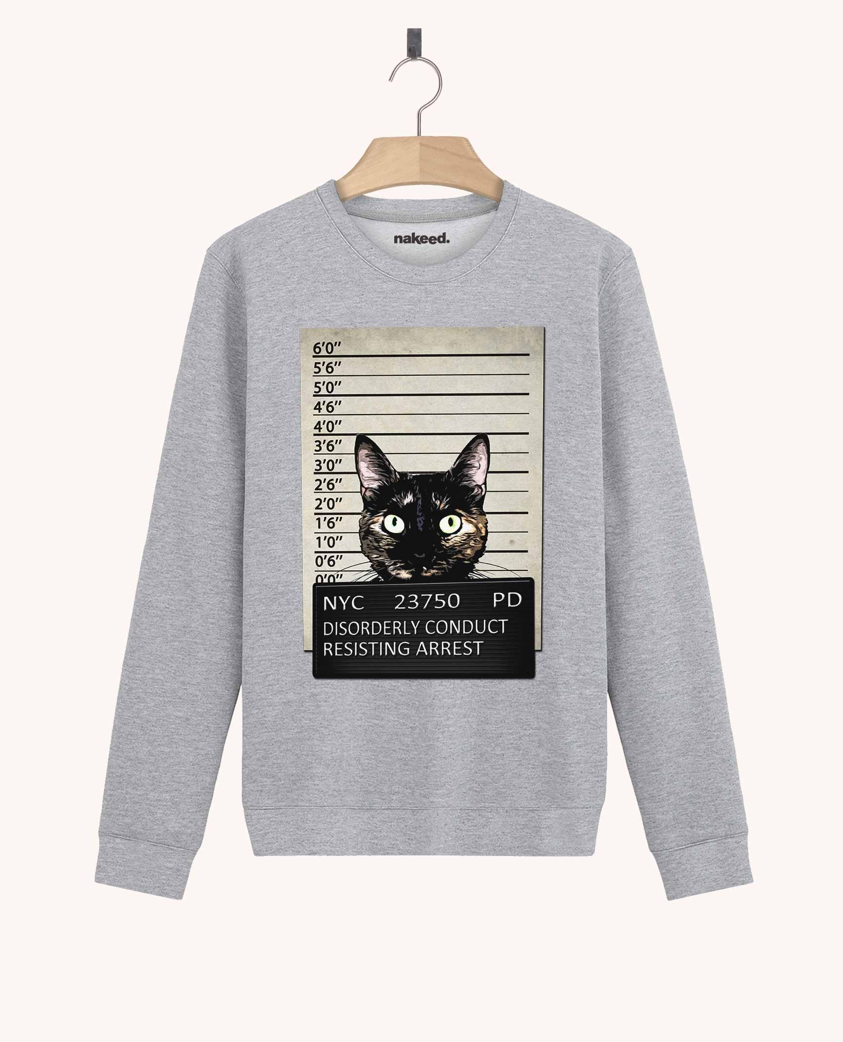 Sweatshirt Kitty Mugshot