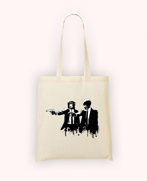 Totebag Divine Monkey Intervention
