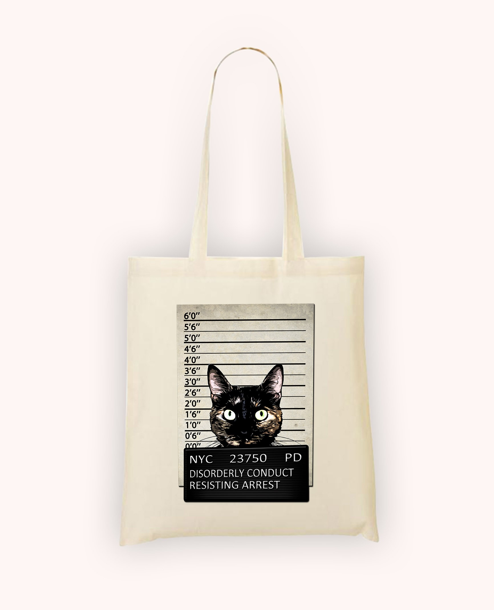 Totebag Kitty Mugshot