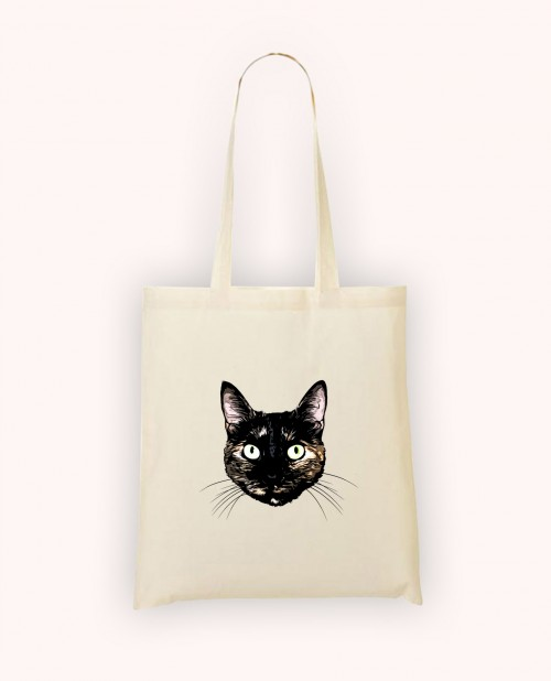Totebag Peeking Cat